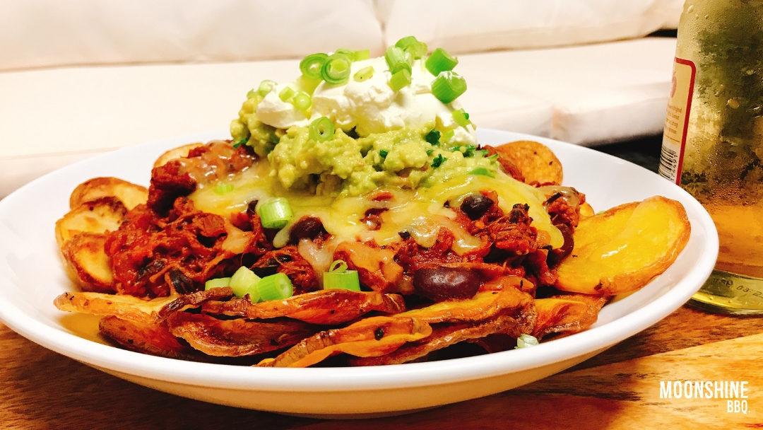 Brisket Nachos with Chilli Salt Potato